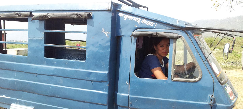 Three Wheelers Driving Training to Women.